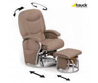 Кресло для беременных мам с подставкой для ног Hauck Metal Glider Creme