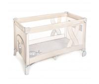 Манеж-кроватка Baby Design SIMPLE 09 BEIGE