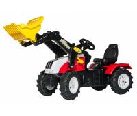 Трактор з ковшем Rolly Toys rollyFarmtrac Steyr 6240 CVT червоно-жовтий