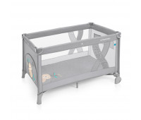 Манеж-кроватка Baby Design SIMPLE 07 LIGHT GRAY