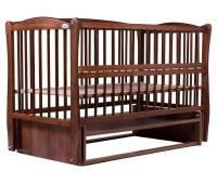 Кровать Babyroom Елит резьба, маятник, откидной бок DER-6 бук орех