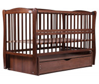 Кровать Babyroom Елит резьба маятник, ящик, откидной бок DER-7 бук орех