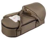 Люлька-переноска Babyroom BLA-056 с твердым дном аппликация хаки (мордочка мишки штопаная)