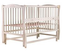 Кровать Babyroom Елит резьба, маятник, откидной бок DER-6 бук слоновая кость