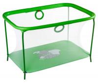 Манеж Qvatro LUX-02 мелкая сетка  салатовый (слон dumbo)