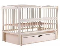 Кровать Babyroom Елит маятник, ящик, откидной бок DEMYO-5 бук слоновая кость