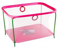 Манеж Qvatro LUX-02 мелкая сетка  розовый (слон dumbo)