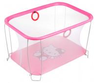 Манеж Qvatro Солнышко-02 мелкая сетка  розовый (hello kitty)
