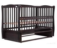 Кровать Babyroom Елит резьба, маятник, откидной бок DER-6 бук венге