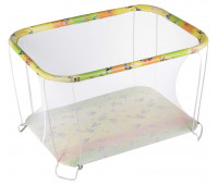 Манеж Qvatro Classic-02 мелкая сетка  разноцветный (губка боб)
