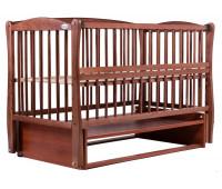 Кровать Babyroom Елит резьба, маятник, откидной бок DER-6 бук тик