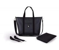 Сумка для коляски Cottonmoose Shopper 750/148 pearl black leather (черный эко-кожа)