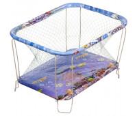 Манеж Qvatro Classic-01 крупная сетка  синий (аквариум)