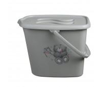 Ведерко для подгузников и воды Maltex Bear 2145  grey