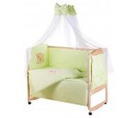 Детская постель Qvatro Gold AG-08 аппликация  салатовый (мишка мордочка штопаная)