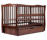 Кровать Babyroom Елит маятник, ящик, откидной бок DEMYO-5 бук орех