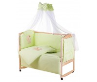 Детская постель Qvatro Gold AG-08 аппликация салатовый (мишка сидит с бутылочкой)