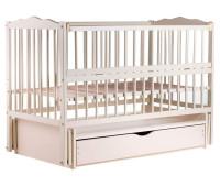 Кровать Babyroom Веселка маятник, ящик, откидной бок DVMYO-3  бук слоновая кость