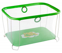 Манеж Qvatro Солнышко-02 мелкая сетка  салатовый (winnie pooh)