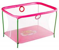 Манеж Qvatro LUX-02 мелкая сетка  розовый (winnie pooh)