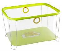 Манеж Qvatro Солнышко-02 мелкая сетка  желтый (winnie pooh)